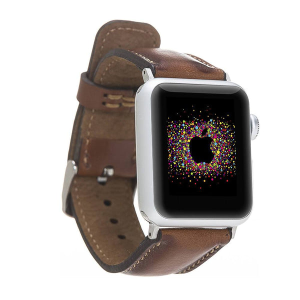 Brown Burnished Classic | Lederarmband für Apple Watch (Braun)