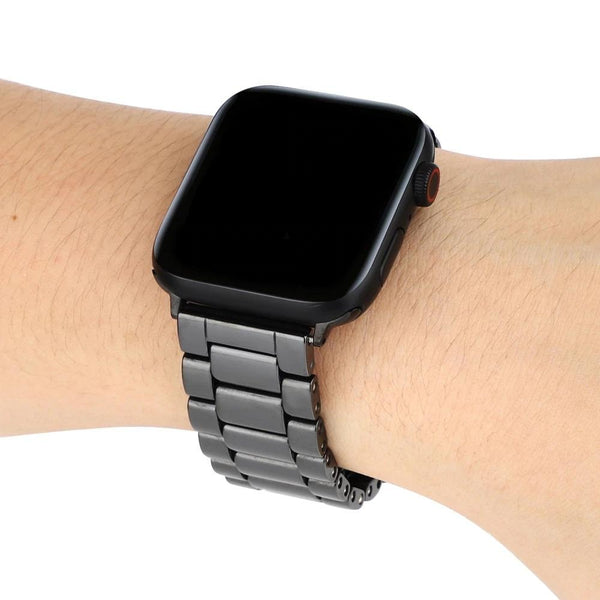 Shiny Black Ceramic Classic | Armband für Apple Watch (Schwarz)