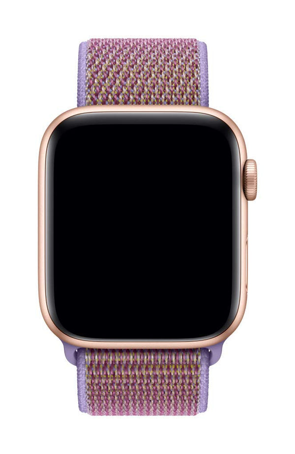 38/40mm Nylongewebe Sportband - Lilac - Loop