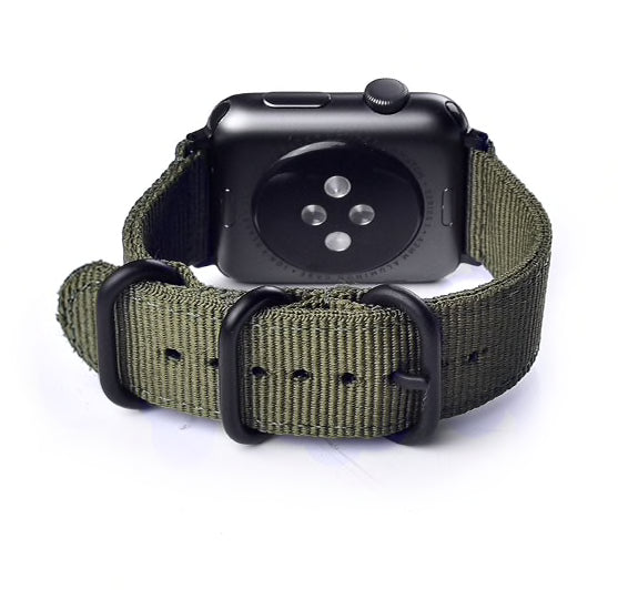 Sport Armband für Apple Watch Double Buckle Armeegrün Series 3 Series 4 Series 5 38mm 40mm 42mm 44mm