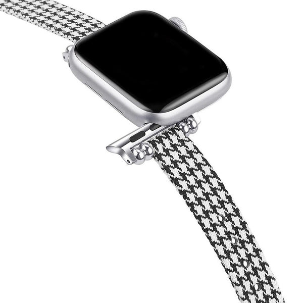 Canvas Houndstooth Petit Slim | Armband für Apple Watch (Mehrfarbig)