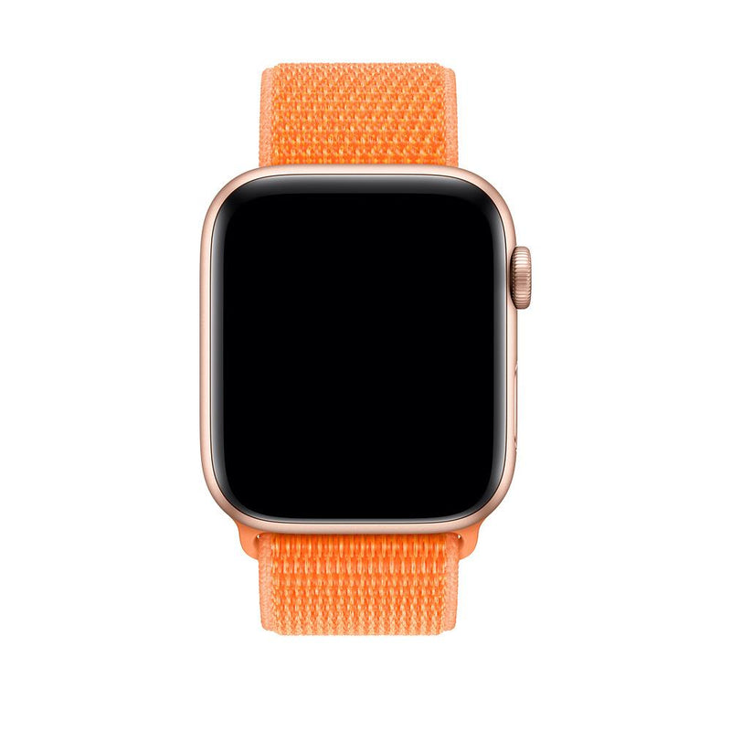 sport loop armband für apple watch orange papaya awab passend zu Serien 2, 3, 4, 5, 38mm 40mm 42mm 44mm