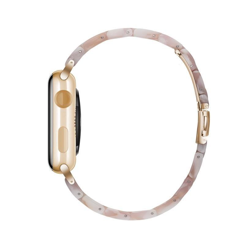 Rose Quartz Resin Classic | Armband für Apple Watch (Pink)