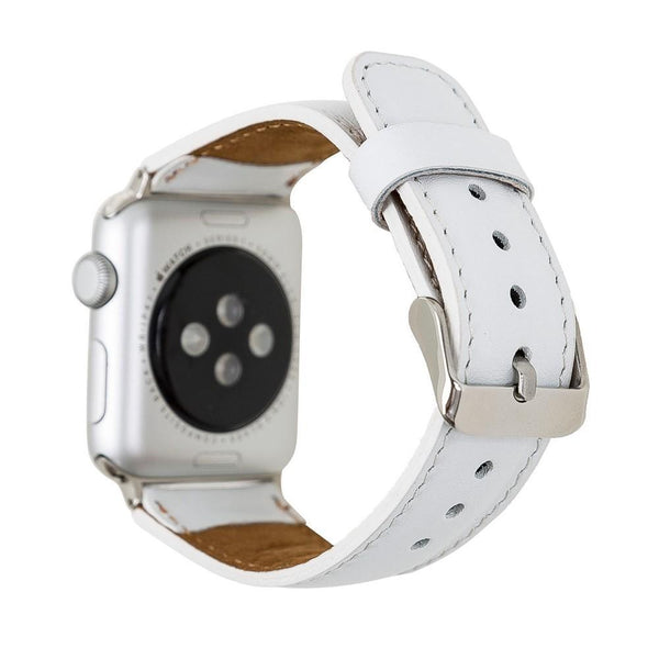 Snow White Classic | Lederarmband für Apple Watch (Weiß)