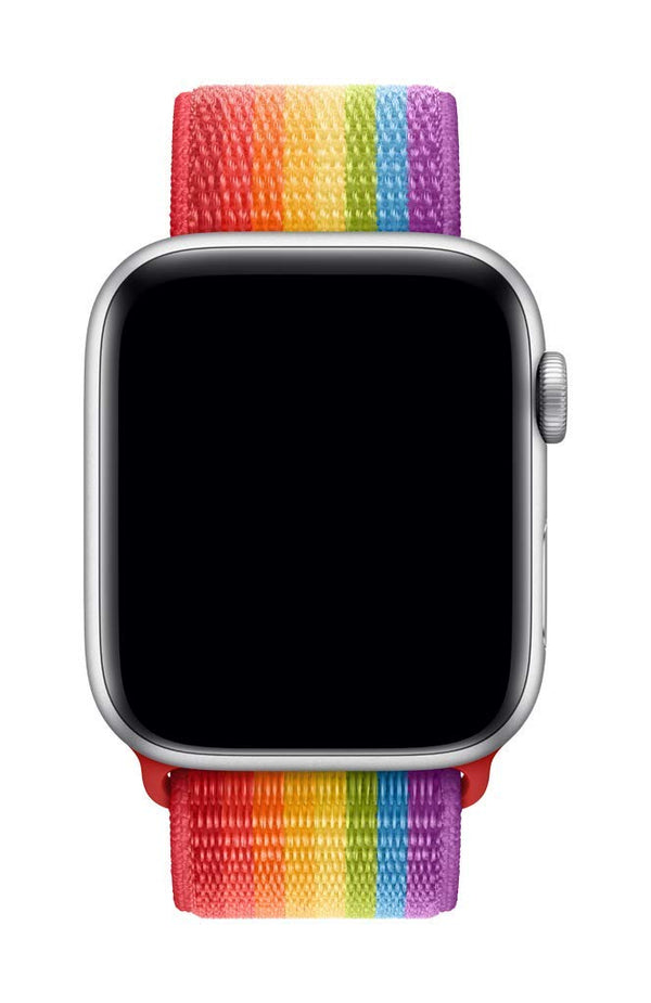 Sport Loop Armband für Apple Watch Rainbow Mehrfarbig Series 3 Series 4 Series 5 38mm 40mm 42mm 44mm