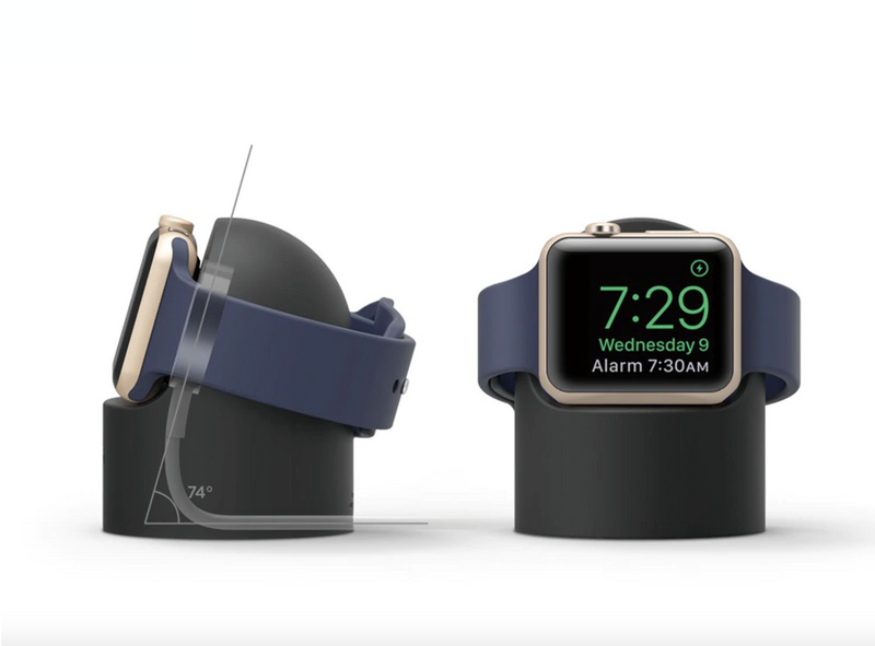 Ladestation für Apple Watch Schwarz | Series 1, Series 2, Series 3, Series 4, Series 5 | 38mm 40mm 42mm 44mm