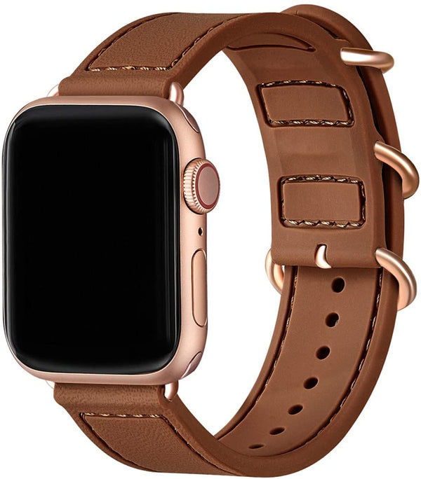 Brown Silikon Double Buckle | Armband für Apple Watch (Braun)