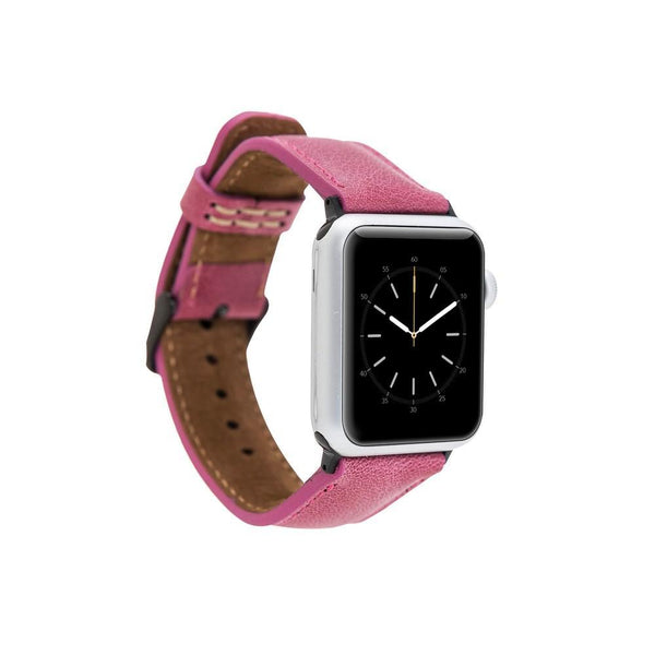 Persian Pink Classic | Lederarmband für Apple Watch (Pink)