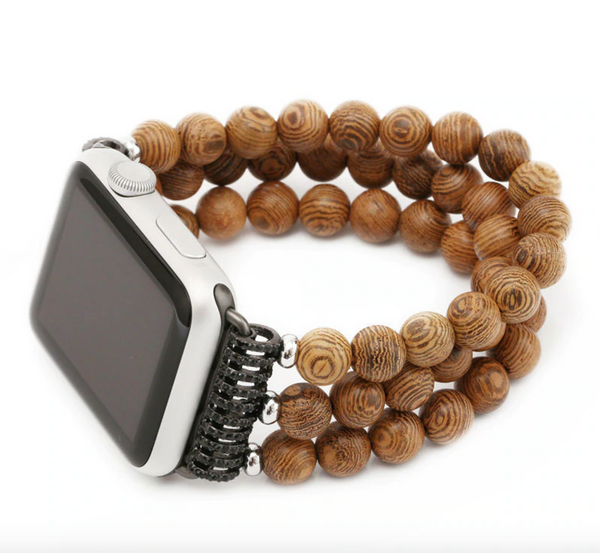 42mm/44mm - Holz Eco Armband - Wood Beads
