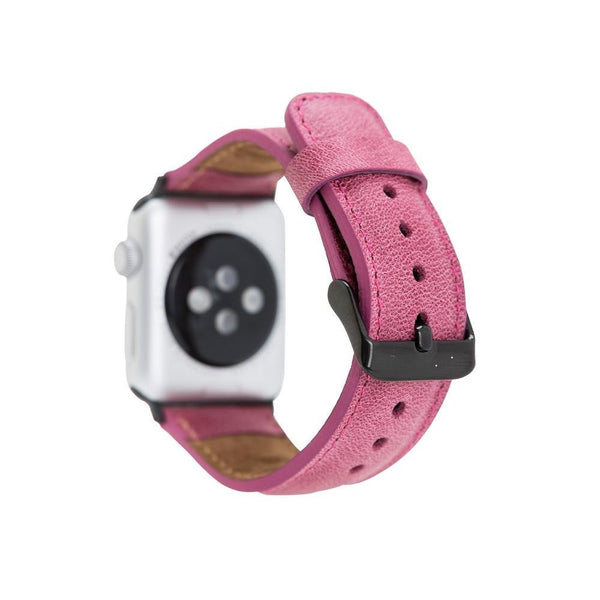 Persian Pink Slim | Lederarmband für Apple Watch (Pink)