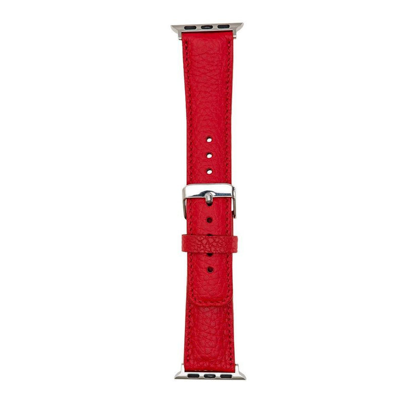 lederarmband für apple watch rot ruby woo red classic awab passend zu Serien 2, 3, 4, 5, 38mm 40mm 42mm 44mm