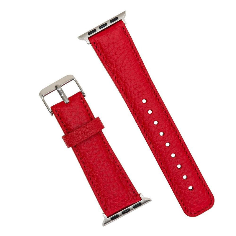 Ruby Woo Red Classic | Lederarmband für Apple Watch (Rot)