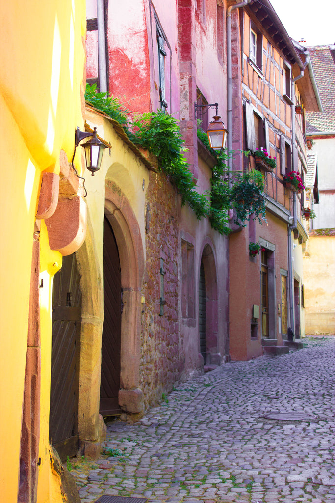 A glimpse of Riquewihr (gem of Alsace France) & Art stories