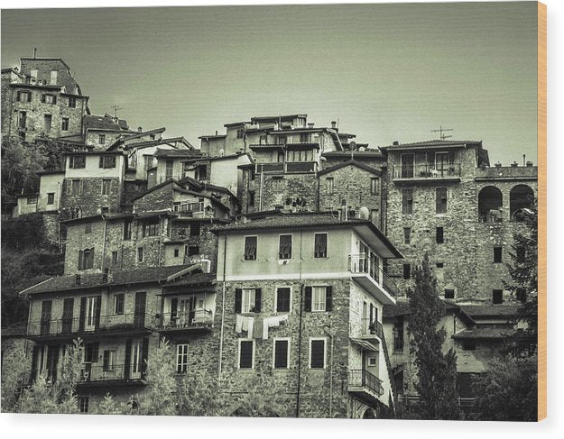 Apricale Italy - Wood Print