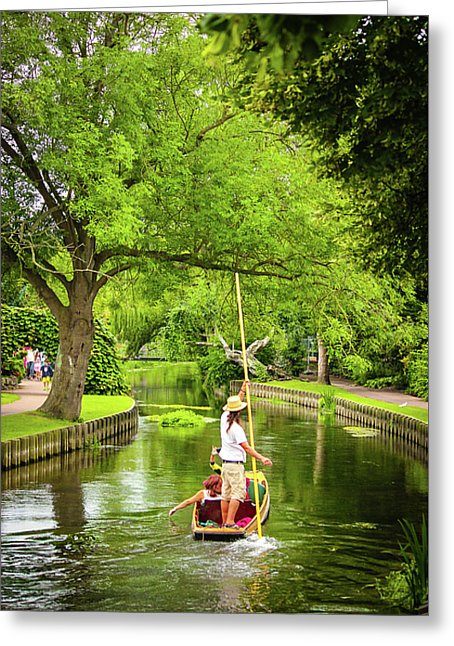 Gondola Ride Down The River - Greeting Card