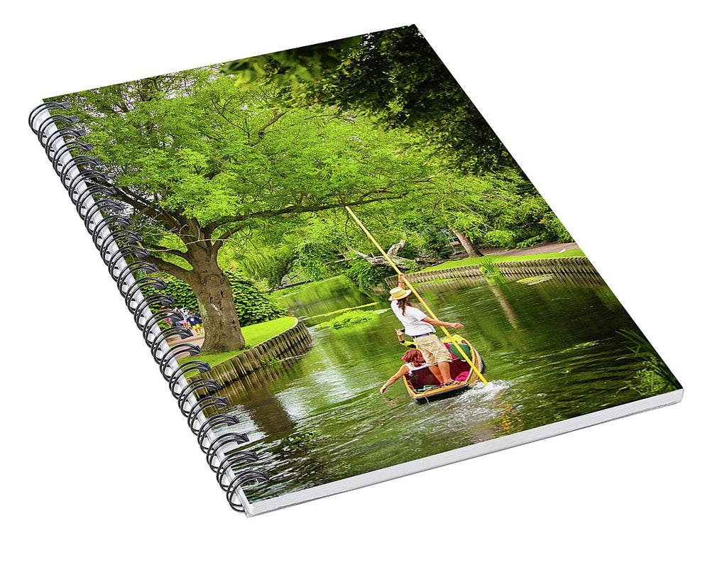 Gondola Ride Down The River - Spiral Notebook