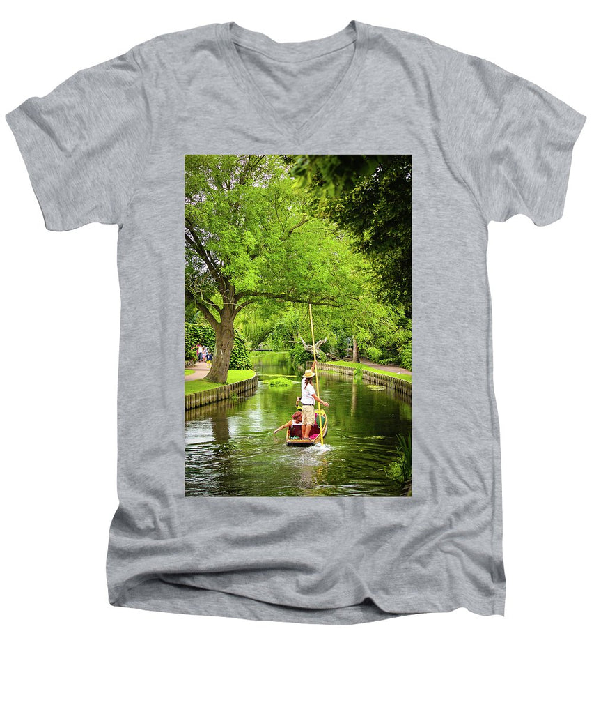 Gondola Ride Down The River - Men's V-Neck T-Shirt
