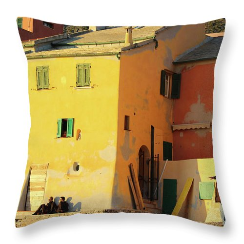 Under The Ligurian Sun - Throw Pillow