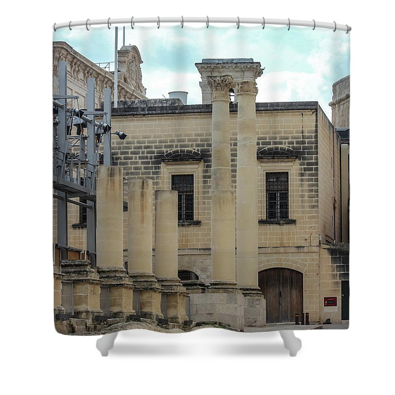 A Glimpse Of Valetta Malta - Shower Curtain