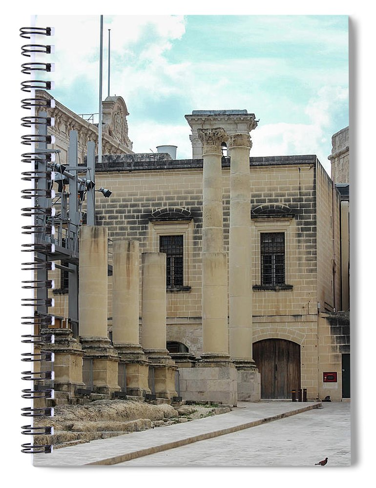 A Glimpse Of Valetta Malta - Spiral Notebook
