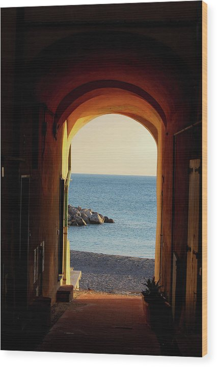 A Piece Of Liguria Coast - Wood Print