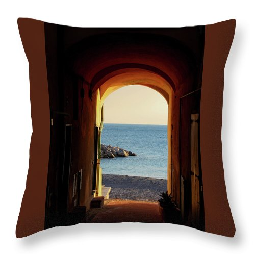 A Piece Of Liguria Coast - Throw Pillow