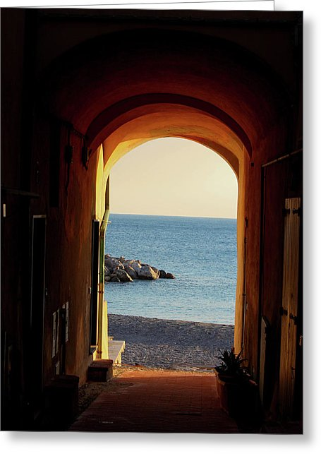 A Piece Of Liguria Coast - Greeting Card