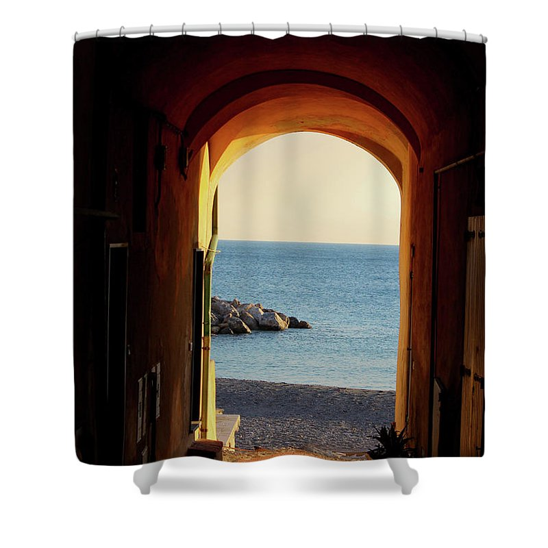 A Piece Of Liguria Coast - Shower Curtain