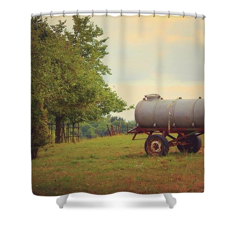 Autumn In The Countryside - Shower Curtain