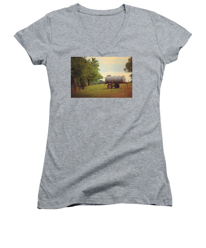 Autumn In The Countryside - Women's V-Neck