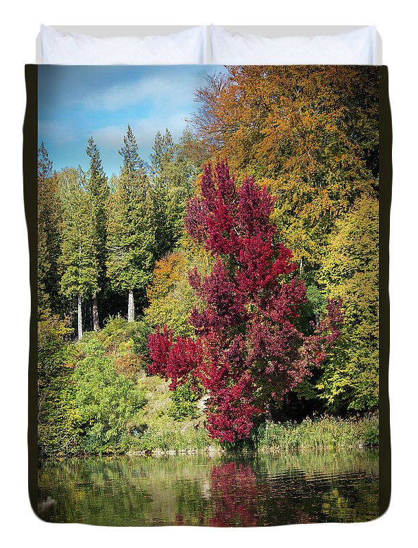 Autumnal View In Belgium - Duvet Cover