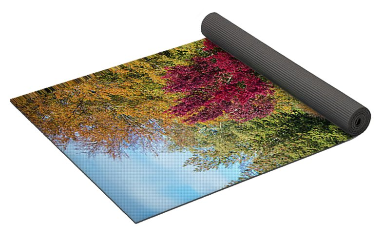 Autumnal View In Belgium - Yoga Mat