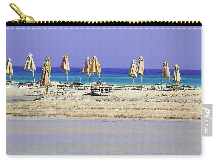 Beach, Sea And Umbrellas - Carry-All Pouch