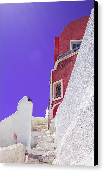 Beautiful Santorini  - Canvas Print