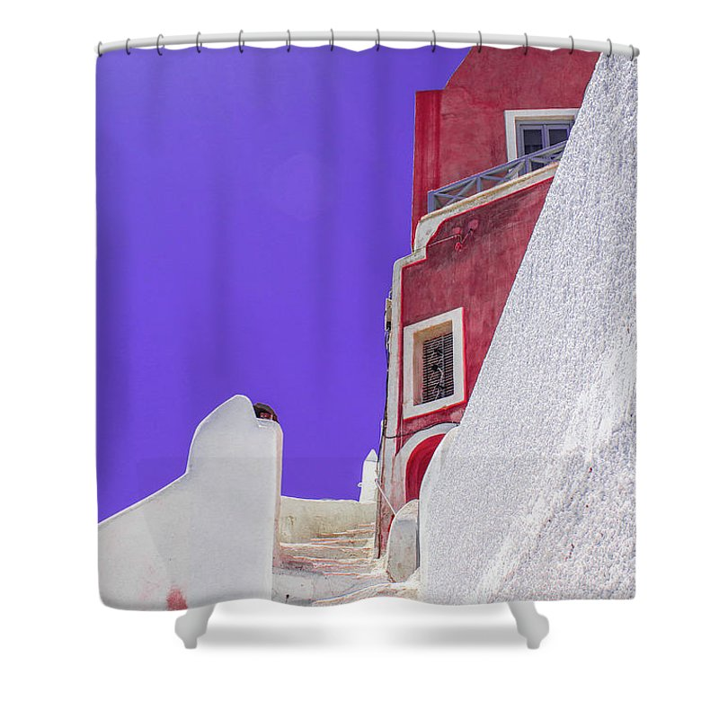Beautiful Santorini  - Shower Curtain