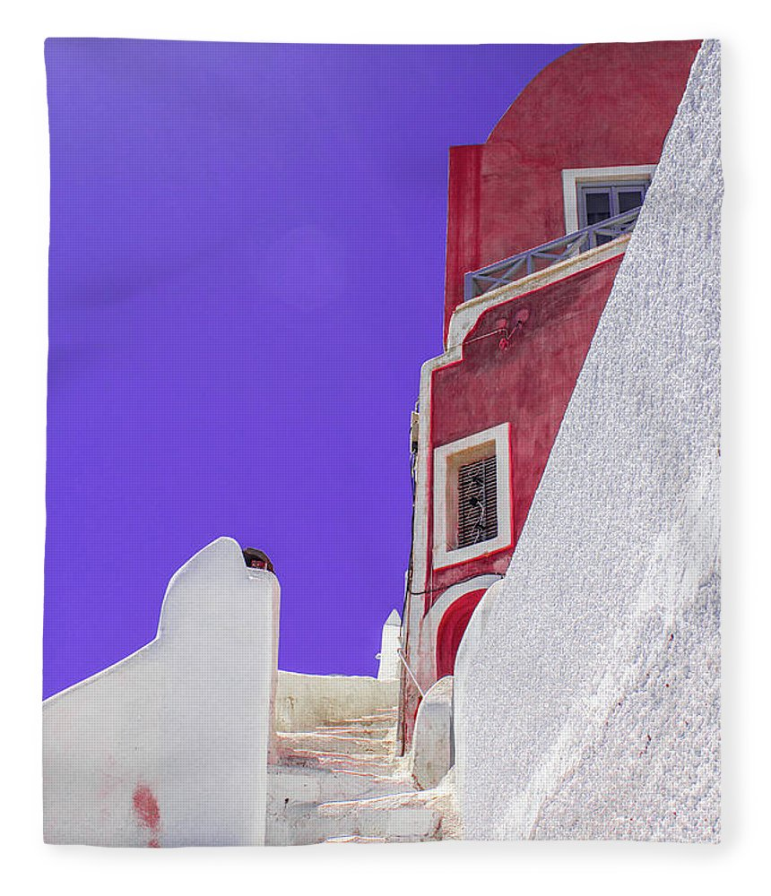 Beautiful Santorini  - Blanket
