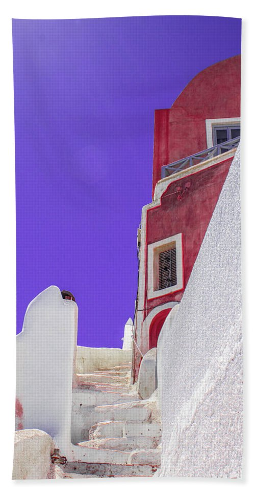 Beautiful Santorini  - Beach Towel