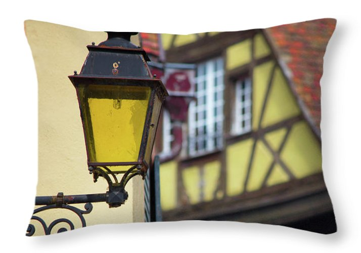 City Features Of Colmar - Throw Pillow