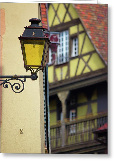 City Features Of Colmar - Greeting Card