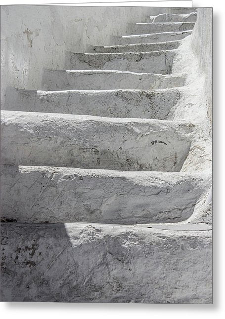 Climbing Stairs - Greeting Card