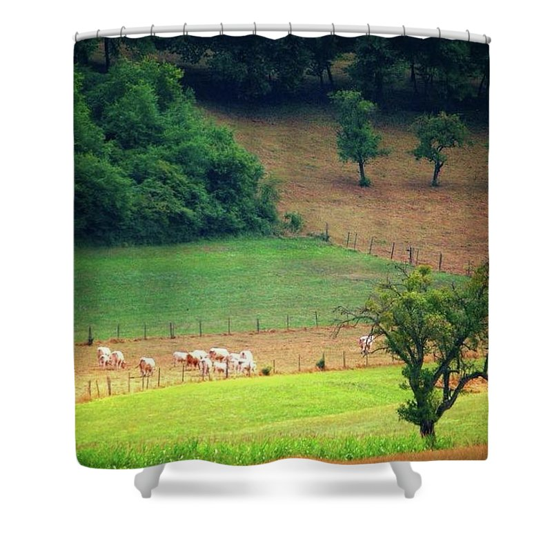 Countryside Landscape - Shower Curtain