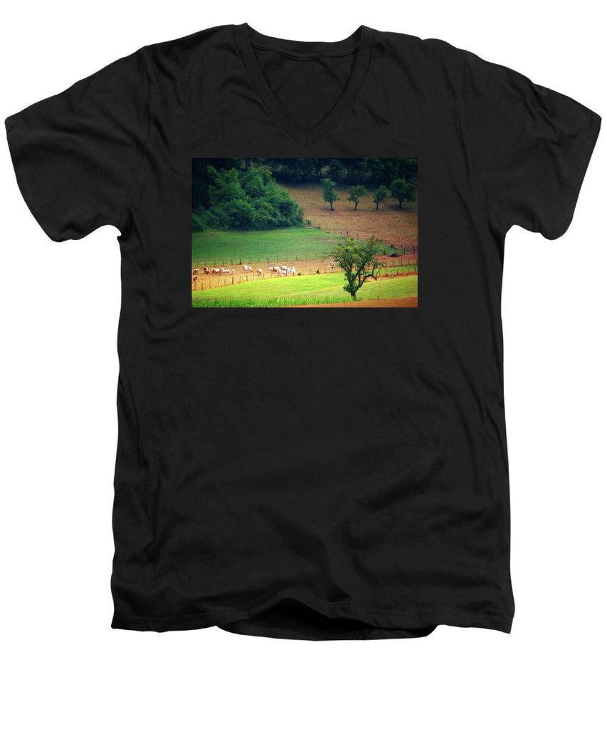 Countryside Landscape - Men's V-Neck T-Shirt