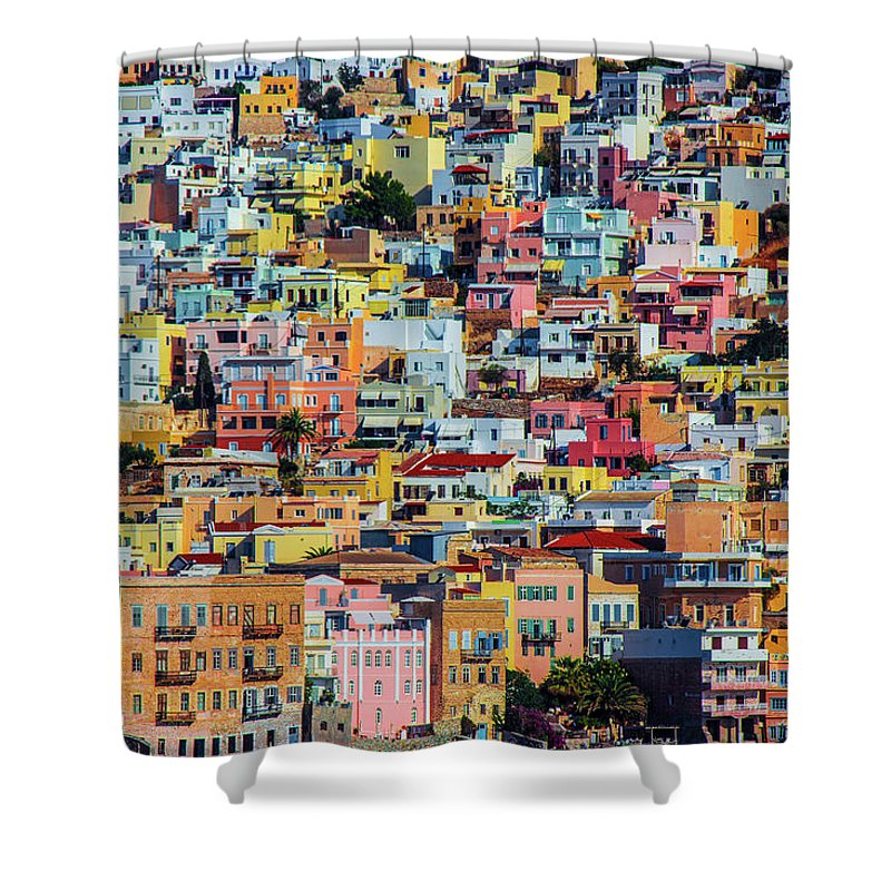 Cyclades Greece  - Shower Curtain