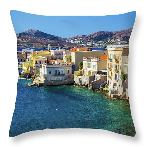Cyclades Island - Throw Pillow