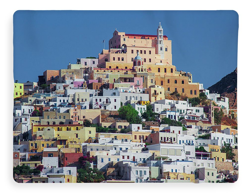 Ermoupolis, Cyclades Greece - Blanket