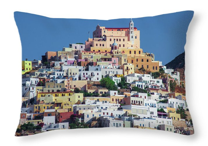 Ermoupolis, Cyclades Greece - Throw Pillow