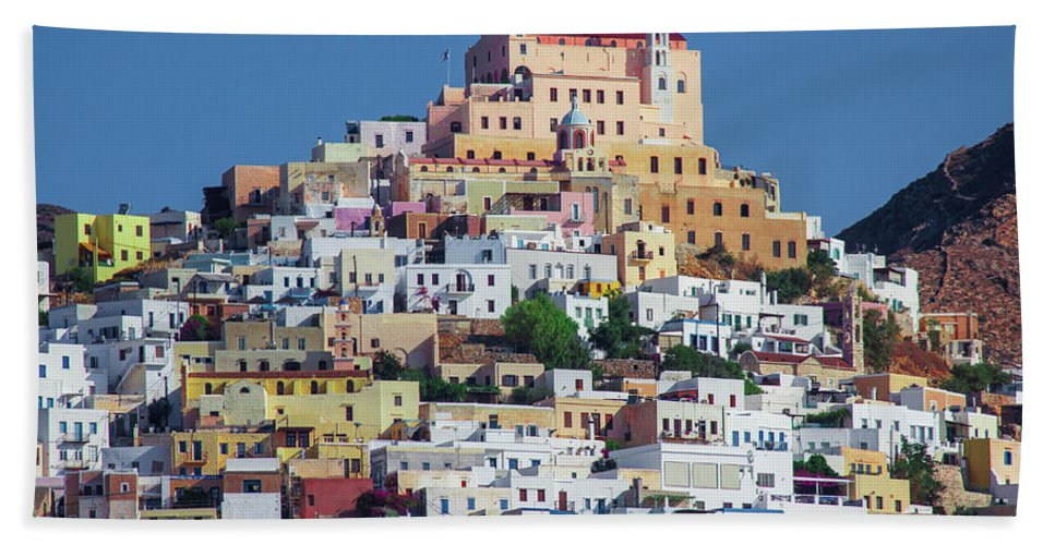 Ermoupolis, Cyclades Greece - Bath Towel