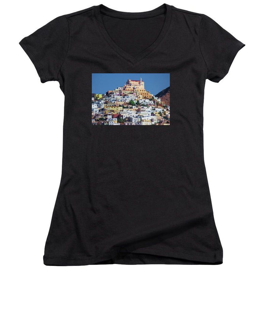 Ermoupolis, Cyclades Greece - Women's V-Neck