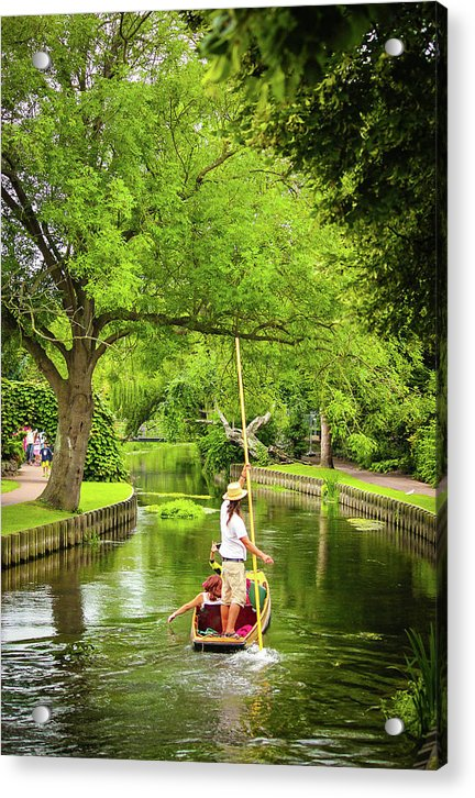 Gondola Ride Down The River - Acrylic Print