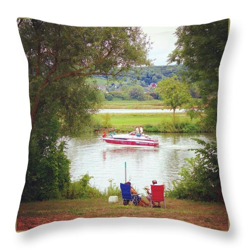 Idyllic Landscape - Throw Pillow